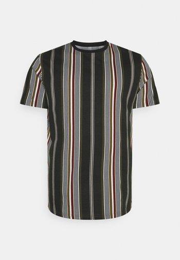 DENTON STRIPE LONGLINE TEE - Print T-shirt - khaki