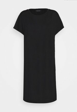DRESS OVERCUT SHOULDER ROUND NECK - Jersey dress - black