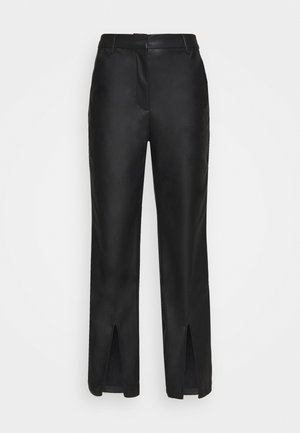 MATIAMU BY SOFIA HIGH WAIST SLIT PANTS - Trousers - black