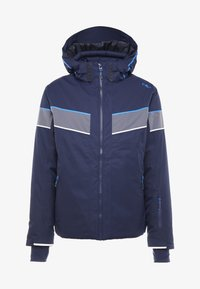 CMP - MAN JACKET ZIP HOOD - Skijacke - black blue - 4