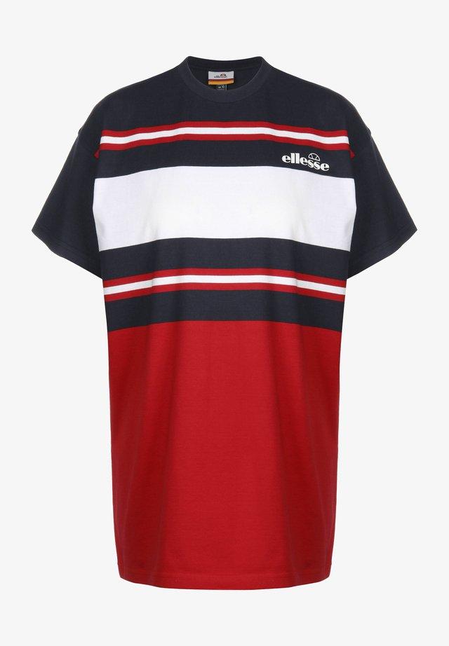GINA W - Print T-shirt - navy