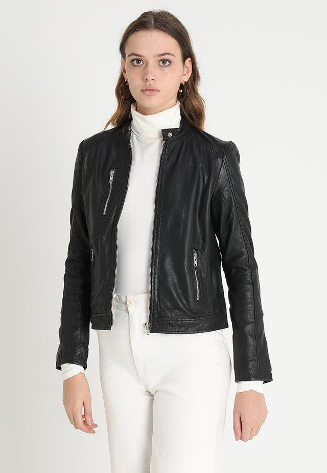 VESLA EWA - Veste en cuir - black