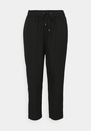 PANTS LOOSE FIT - Trousers - deep black