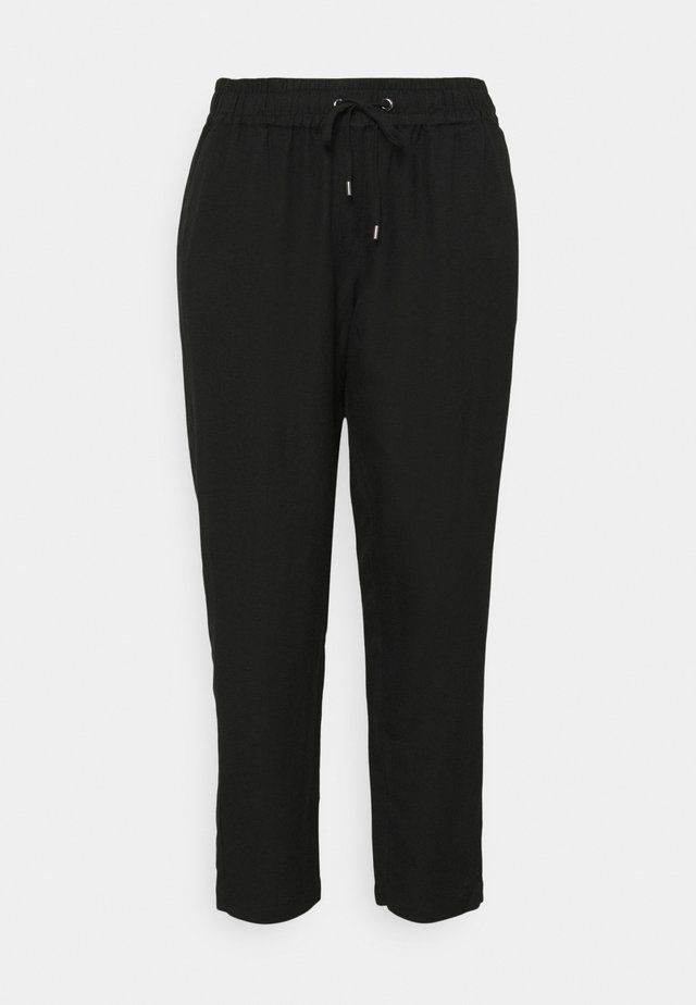 PANTS LOOSE FIT - Pantaloni - deep black