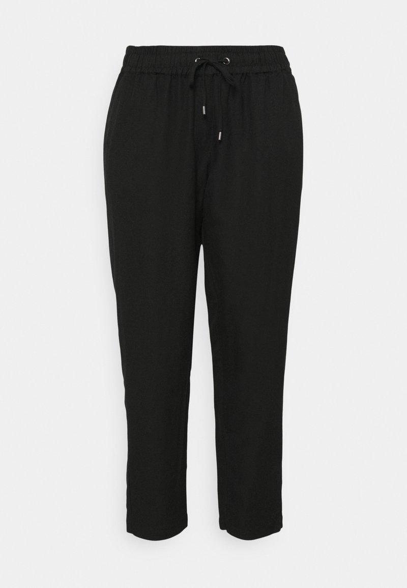 MY TRUE ME TOM TAILOR - PANTS LOOSE FIT - Trousers - deep black