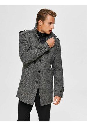 SLHNOAH COAT - Classic coat - white/black