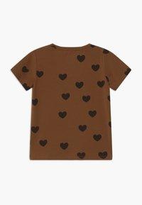 Mini Rodini - HEARTS TEE - Print T-shirt - brown - 1