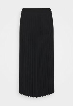 SKIRT PLISSÉ - A-line skirt - deep black
