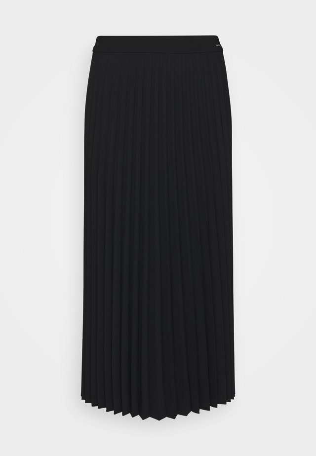 SKIRT PLISSÉ - A-linjainen hame - deep black