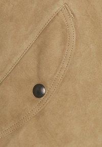 Polo Ralph Lauren - TISSUE GUNNERS  - Giacca di pelle - desert khaki - 2