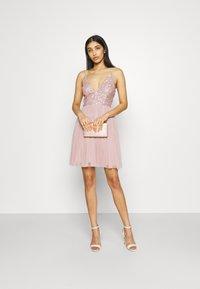 Lace & Beads - AVA SKATER - Sukienka koktajlowa - dusty pink - 1