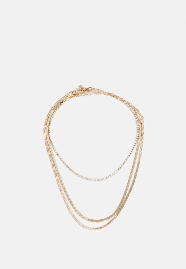 KALIRWEN 3 PACK - Necklace - clear/gold-coloured