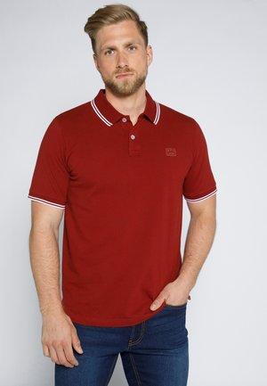 MIT KONTRASTDETAILS - Poloshirt - augergine