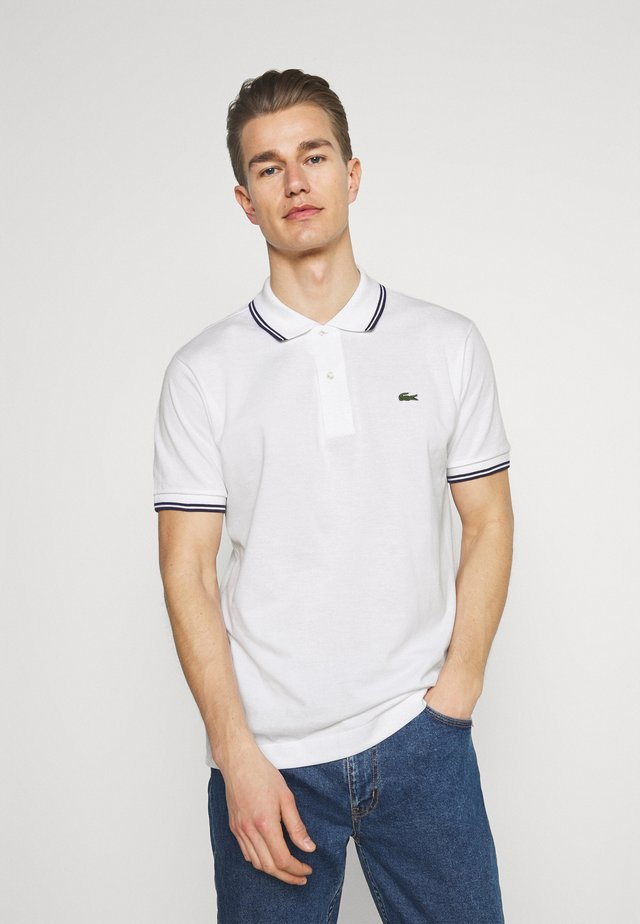Polo shirt - white/navy blue