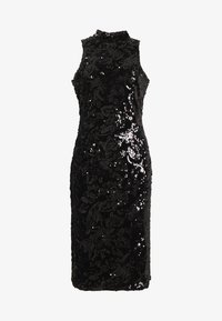 Club L London - SEQUIN HIGH NECK MIDI DRESS - Sukienka koktajlowa - black - 3