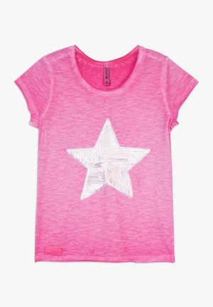 GIRLS PAILLETTEN STERN - Camiseta estampada - pink