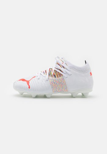 FUTURE Z 3.1 FG/AG JR UNISEX - Moulded stud football boots - white/red blast