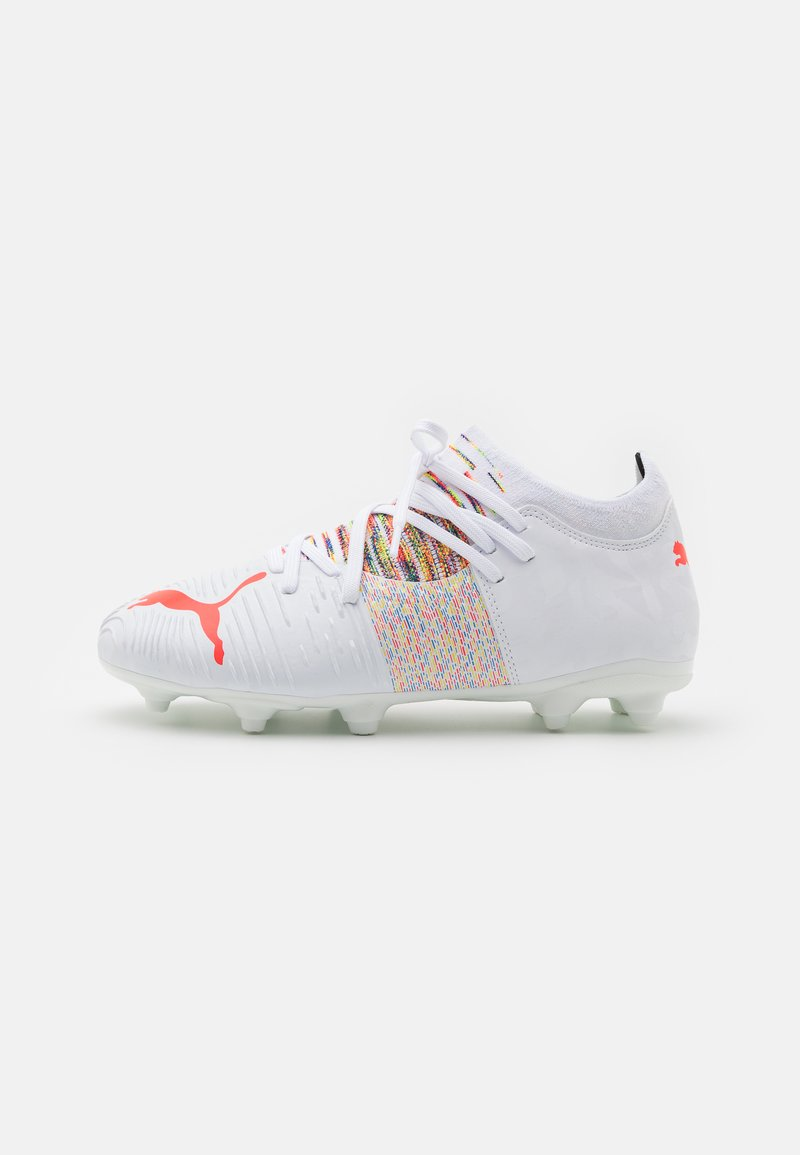 Puma - FUTURE Z 3.1 FG/AG JR UNISEX - Moulded stud football boots - white/red blast