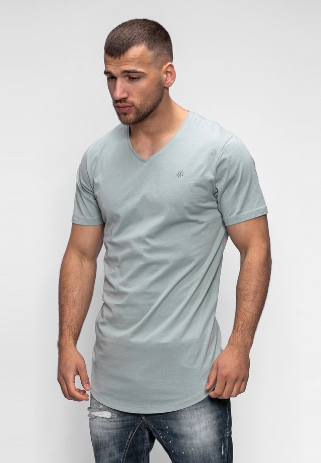 NEWRAR  - Basic T-shirt - iceberg green