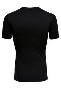 FIRST - NAHTLOSES - Print T-shirt - black - 1