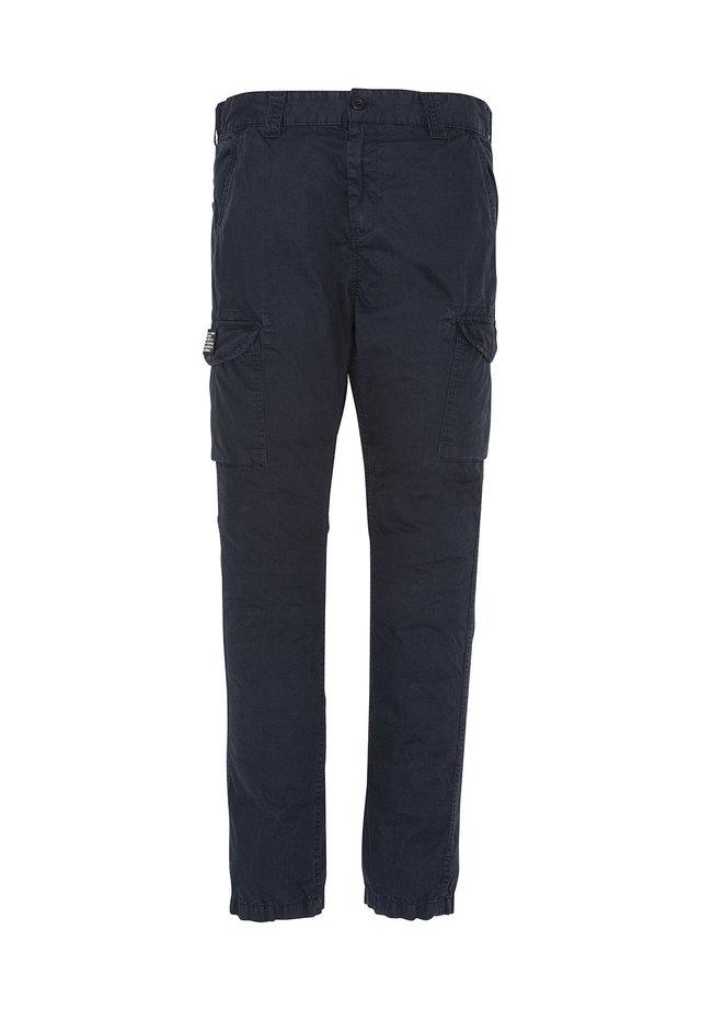 Cargo trousers - bleu marine