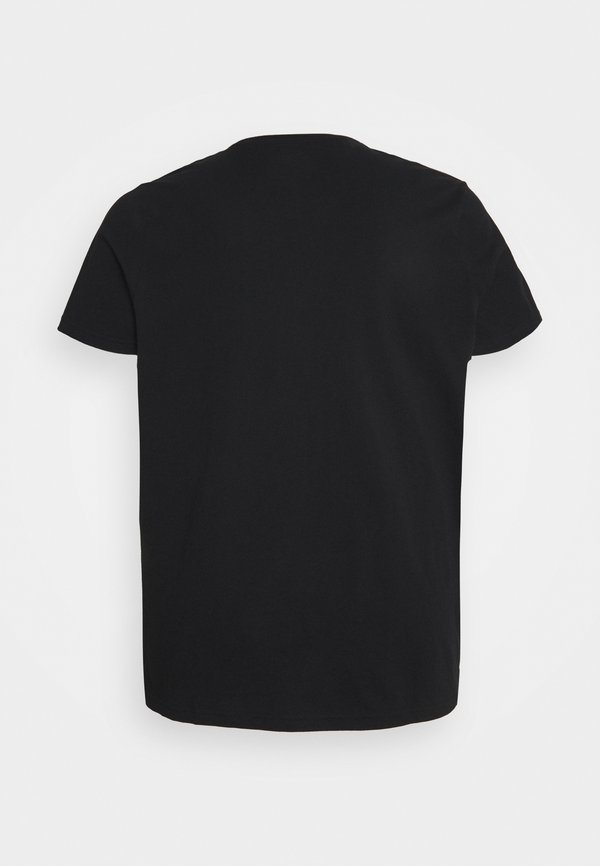 Lee TWIN CREW 2 PACK - T-shirt basic - black/czarny Odzież Męska OFMN