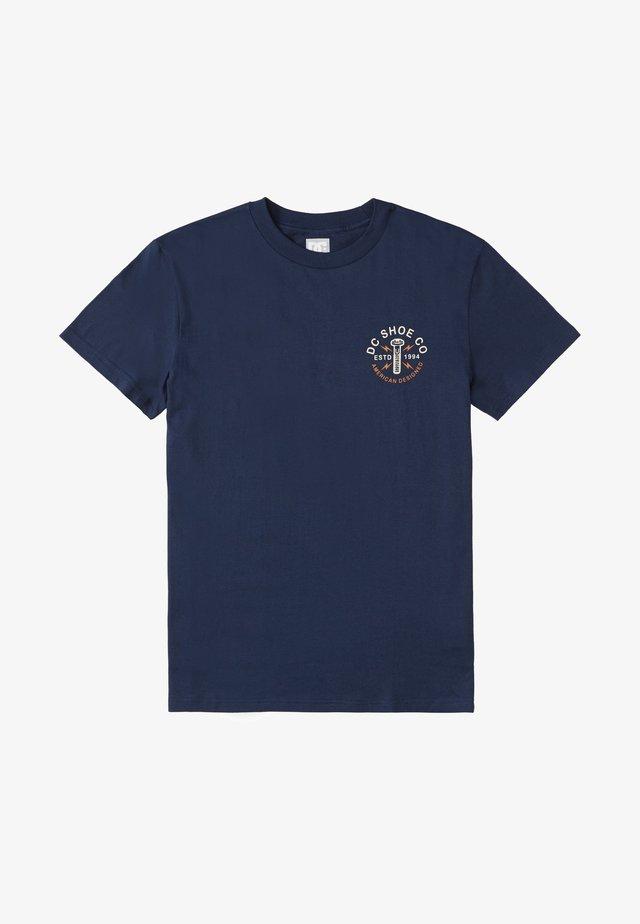 AROUND THE CLOCK - Print T-shirt - black iris