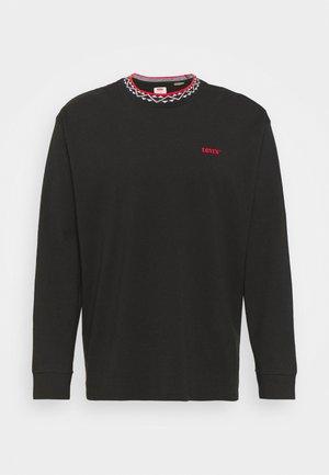 OVERSIZED TEE UNISEX - Majica z dolgimi rokavi - caviar