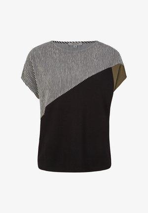 MIT PATCH-MUSTER - Blouse - black/black stripes