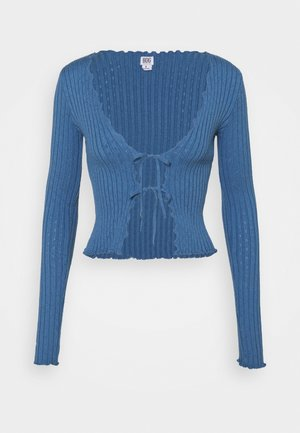 NOORI TIE FRONT - Cardigan - blue