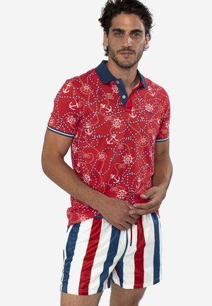 POLO IN COTONE CON STAMPA MARINIERE - Polo shirt - rosso screziato