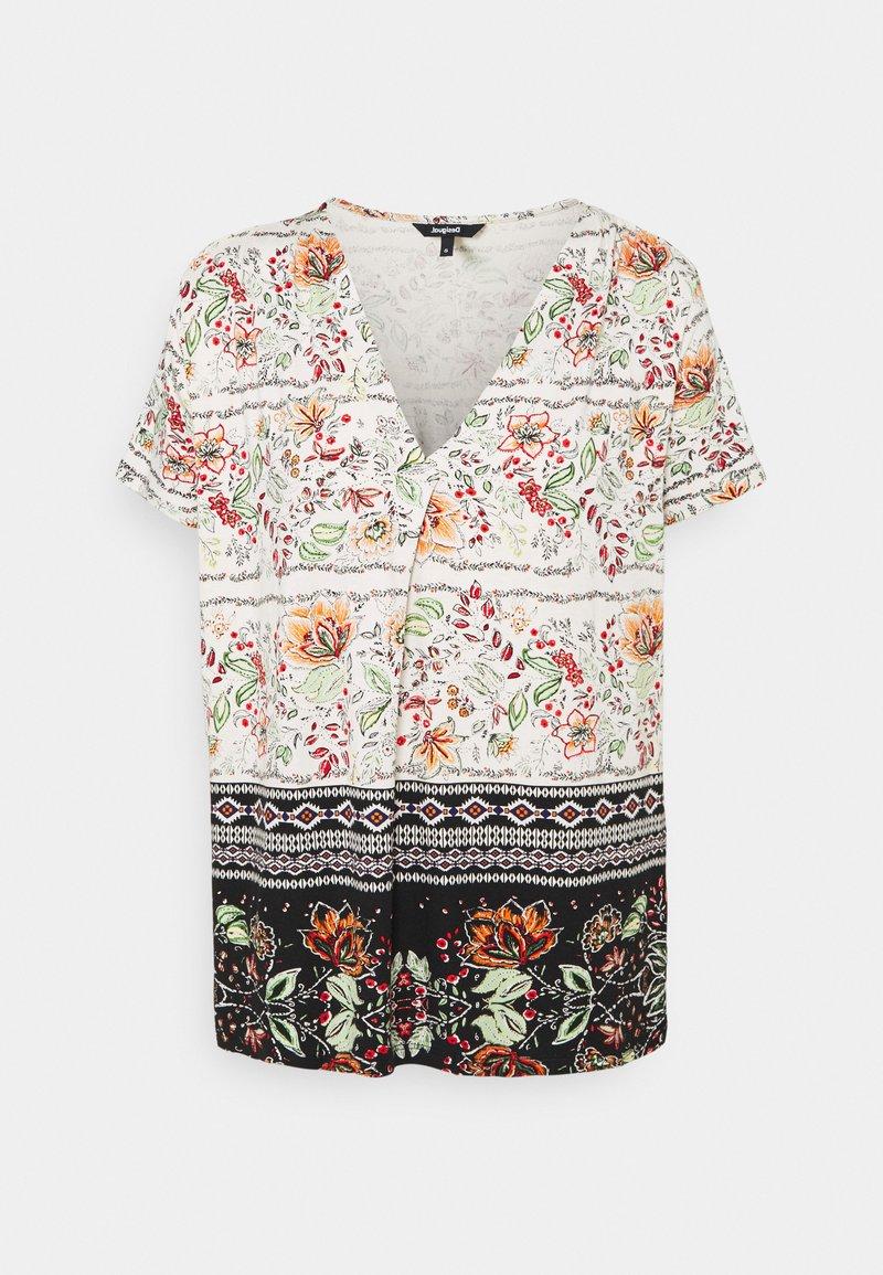Desigual - CRACOVIA - Print T-shirt - white