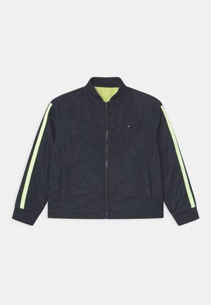 REVERSIBLE TAPE - Light jacket - twilight navy/faded lime
