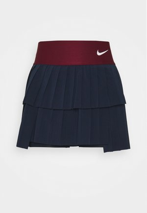 SKIRT PLEATED - Sports skirt - obsidian/dark beetroot/white