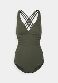 SWIMSUIT CROSS - Swimsuit - olive