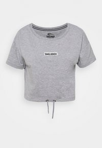 Smilodox - CROPPED FANCY - Basic T-shirt - grau/weiß - 0