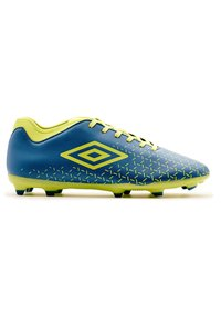 Umbro - Moulded stud football boots - teal, yellow - 2