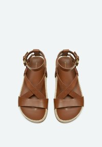 Uterqüe - Sandalen met enkelbandjes - brown - 2