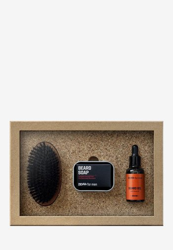 SIMPLE LUMBERJACK HEMP SHINE - Shaving set - orange