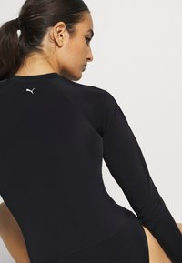 Puma - SWIM WOMEN LONG SLEEVE SURF SUIT - Swimsuit - black - 4