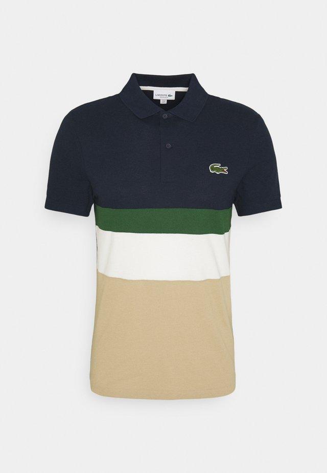 Poloshirt - viennois/farine/vert/marine
