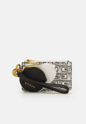 3 IN 1 POUCH KEYRING SET - Portefeuille - white/black