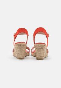 Tamaris - Wedge sandals - flame - 3