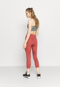 Nike Performance - ONE CROP 2.0 - Leggings - canyon rust/white - 2