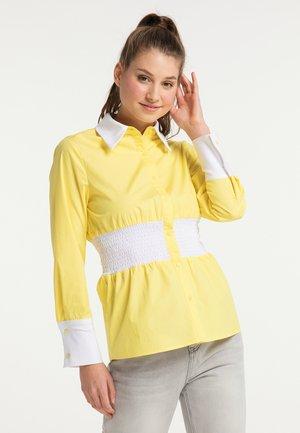 Overhemdblouse - zitrone