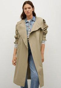 Mango - Classic coat - kaki - 0