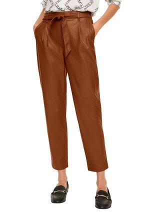 Trousers - light cognac