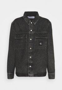 Calvin Klein Jeans - UTILITY SHIRT JACKET - Denim jacket - black - 4