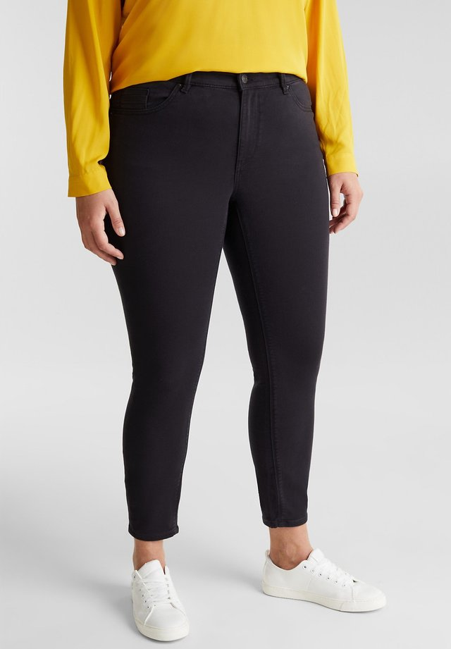 CURVY  - Trousers - black