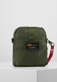 Alpha Industries - CREW CARRY BAG - Across body bag - sage green - 3
